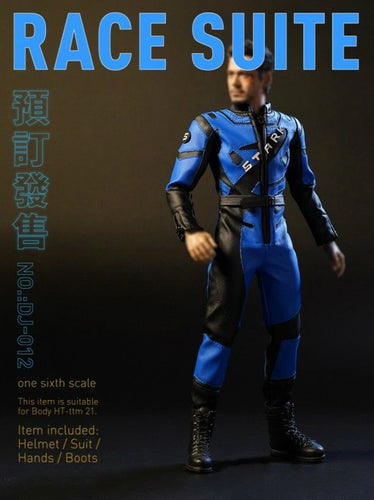 1/6 Scale DJ_Custom DJ_012 Tony Race Suit Set (head,helmet,suit)