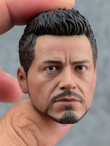 In-Stock Custom 1/6 Scale Iron Man 3 Tony Stark Head Sculpt for 12'' action figure