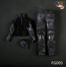 1/6 Scale Fire Girl Female Black Python Camouflage Uniforms FG005