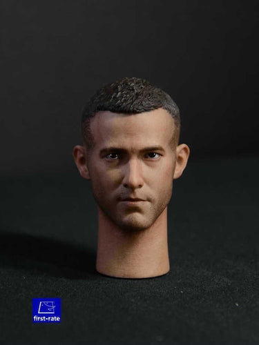 1/6  scale First-rate Ryan Reynolds Deadpool 002 Head Sculpt for Hot Toys Body