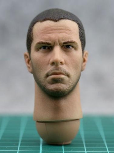 1/6 Scale Christian Bale Head Sculpt For Terminator Salvation T800 John Connor