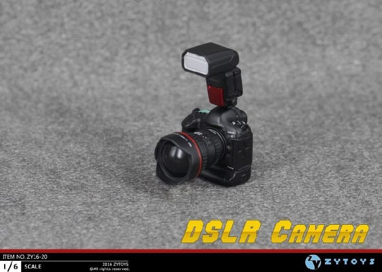 Newest 1/6 Scale DSLR Camera Miniature for 12'' action figures