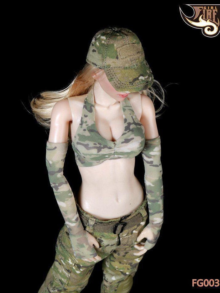 Tactical Female Shooter Fire Girl Toys 1/6 FG003 Clothing Suit fit  Phicen body