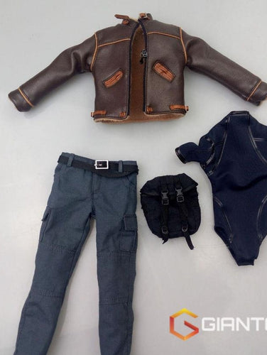 Rare 1/6 Scale Jacket Jeans Bag Set For Resident Evi 4 Leon Scott Kennedy Suite