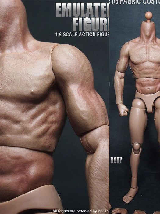 "1/6 Scale ZC Toys 12"" Emulated Muscular Figure Body 1.0 Version"