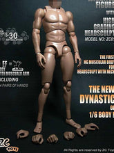 "1/6 Scale ZC Toys 12"" Muscular Figure Body For Hot Toys Head Wide Shoulder"