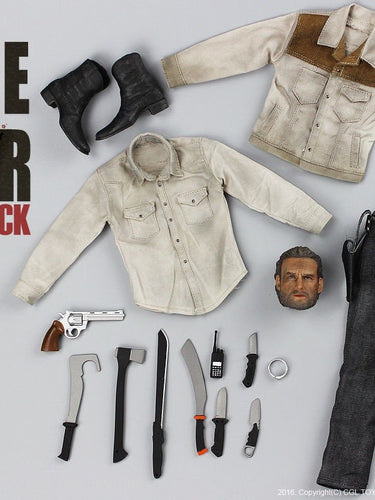 CGLTOYS H-04 The Walking Dead Season 4 Rick Grimes Clothing and Weapon set