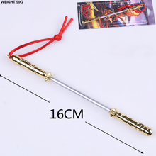 "1/6 Scale Metal golden cudgel For 12"" LOL Action Figure Sun Wukong"