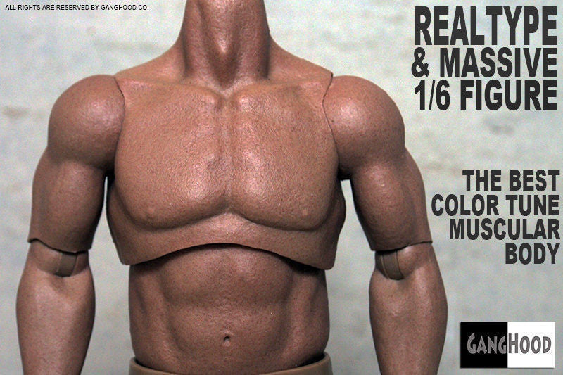 16 Scale Ganghood Muscular Body 10 Version Giantoy Action Figures