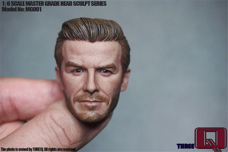 THREEQ MG001 1/6 scale Middle-aged version Football David Beckham Head Sculpt