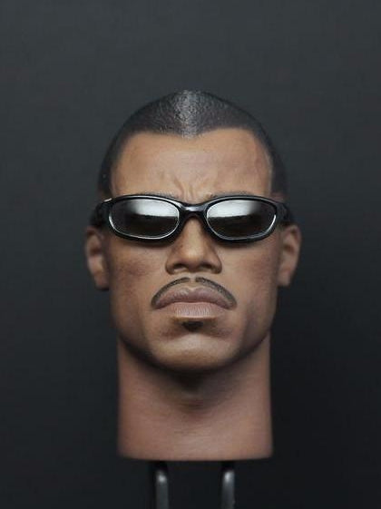 Custom 1/6 Scale Hot Blade Wesley Snipes BLADE II head sculpt with sunglasses