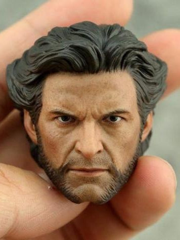 Custom Hugh Jackman Mr. Wolf 1/6 Head Sculpt X-Men Origins: Mr. Wolf