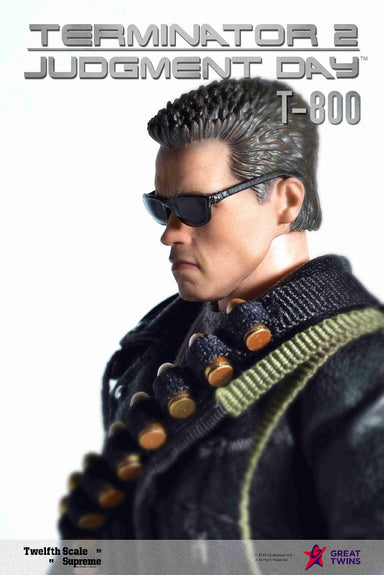 In-Stock GREAT TWINS 1/12 Scale T-800 Terminator 2 T 800 6in Action Figure Judgement Day