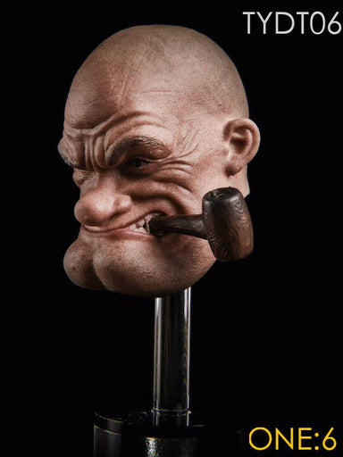 In-stock  YTSTOYS TYDT06 1/6 Popeye Male Head For 12in Hot Toys Phicen Body