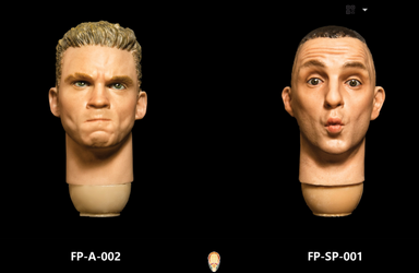 In-Stock 1/6 Scale Facepool Figure Head Expression Two Pack FP-A-002 FP-SP-001