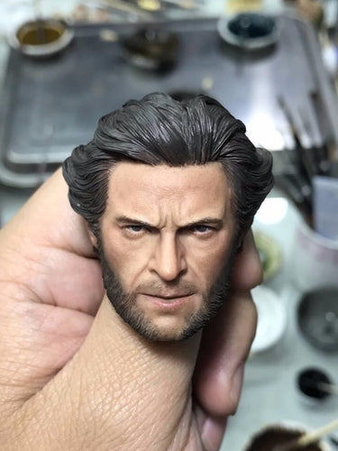 In-Stock ELEVEN Hugh Jackman Mr. Wolf 1/6 Head Sculpt X-Men Origins: Mr. Wolf