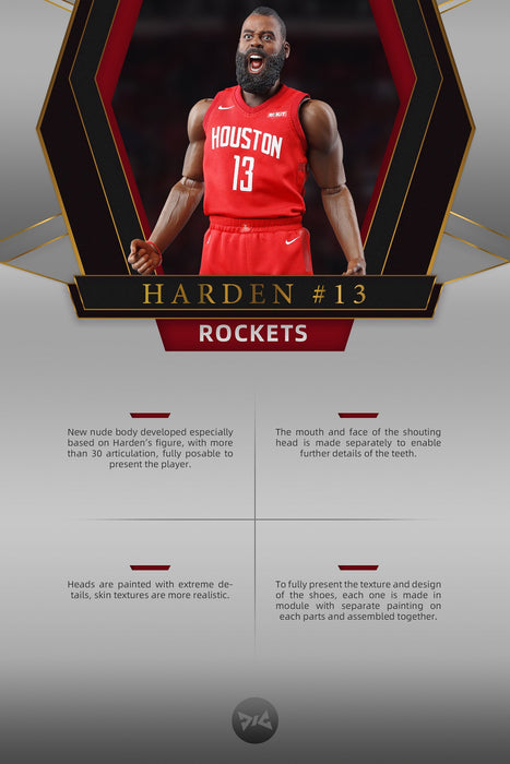 Pre-order DJ CUSTOM NB001 James Harden Rocket 1/6 Scale