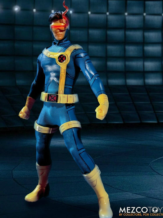 Pre-order 1/12  Mezco Toyz Ant 76920 X Man Cyclops Laser Eye Light Action Figure