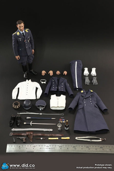 In-stock 1/6 DID D80147 WWII German Luftwaffe Captain – Willi Action Figure