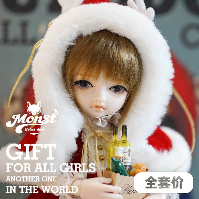 In-stock 1/6 Scale Monst BJD Ball Joint Doll SD 12in Action Figure B Happy holidays