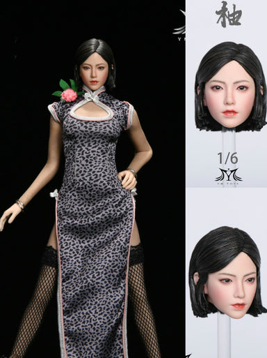 Pre-order 1/6 YMTOYS YMT047 Girl In Leopard-Print Cheongsam Custom Kit (No body)
