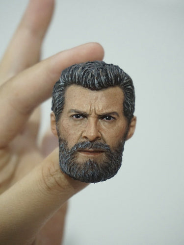 1/6 Head Sculpt for Old Wolf Mr. Wolf Hugh Jackman (Old Wolf) with no neck