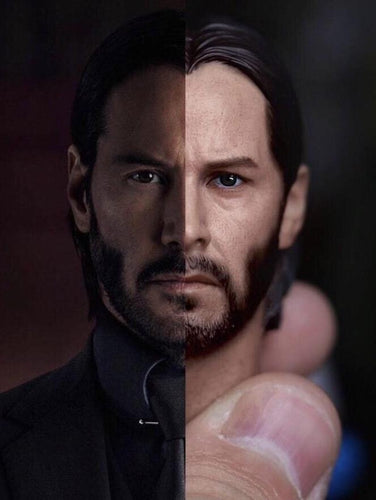 In-Stock  Eleven 1/6 Scale Keanu Reeves John Wick Head Sculpt For Hot Toys 2.0