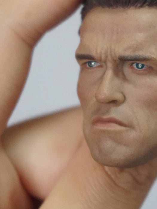 1/6 Head Sculpt for Arnold Schwarzenegger John Matrix (Commando)