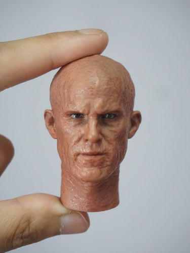 1/6 Head Sculpt for Deadpool Wade Wilson with damaged face
