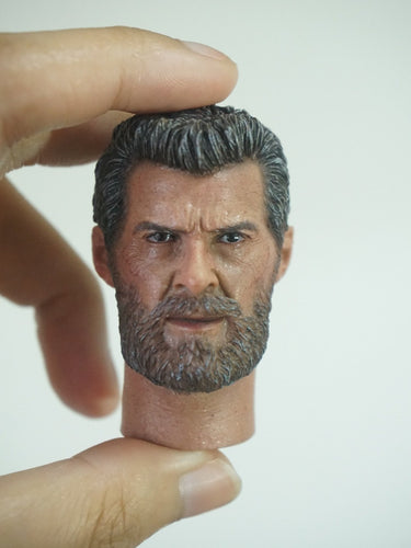 1/6 Head Sculpt for Old Wolf Mr. Wolf Hugh Jackman Burning Soul Long Neck