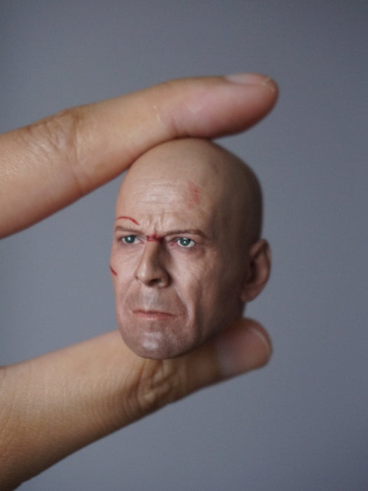 1/6 Head Sculpt for John McClane by old Bruce Willis (Die Hard) for one-sixth action figure