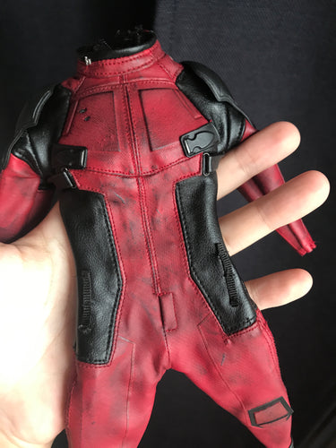 1/6 scale custom costume for Deadpool jumpsuit for 12'' action figure