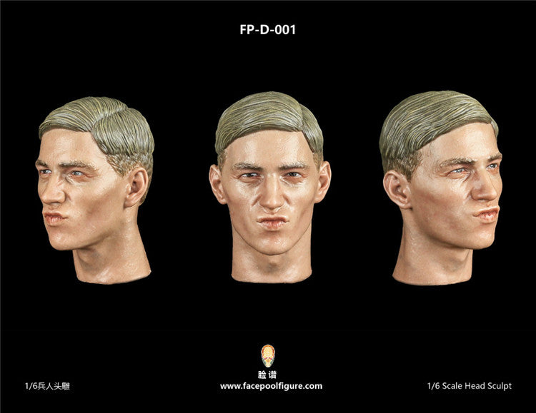 In-stock 1/6 Facepool Male Head Sculpt W/ Expression Series 7 FPD001  FPD002