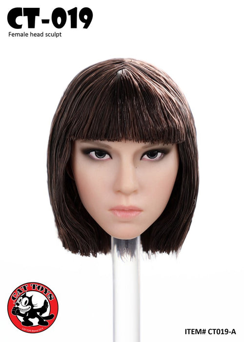 In-stock 1/6 Scale CAT TOYS CT019 Female Assassin Head Sculpt For 12in Figure