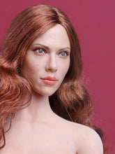 1/6 head sculpt for Black widow Scarlett Johansson red Long curly hair