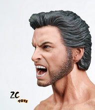 Custom Hugh Jackman Mr. Wolf 1/6 Head Sculpt X-Men Origins: Mr. Wolf Roaring Version