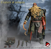 In-Stock 1/6 Scale XD TOYS XD001 Octopus Captain Davy Jones 12'' action figure