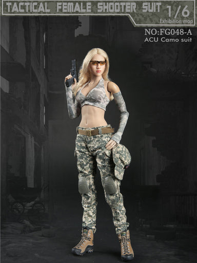 In-Stock Fire Girl FG048 1/6 Scale Female Tactical Shooter Clothes Set