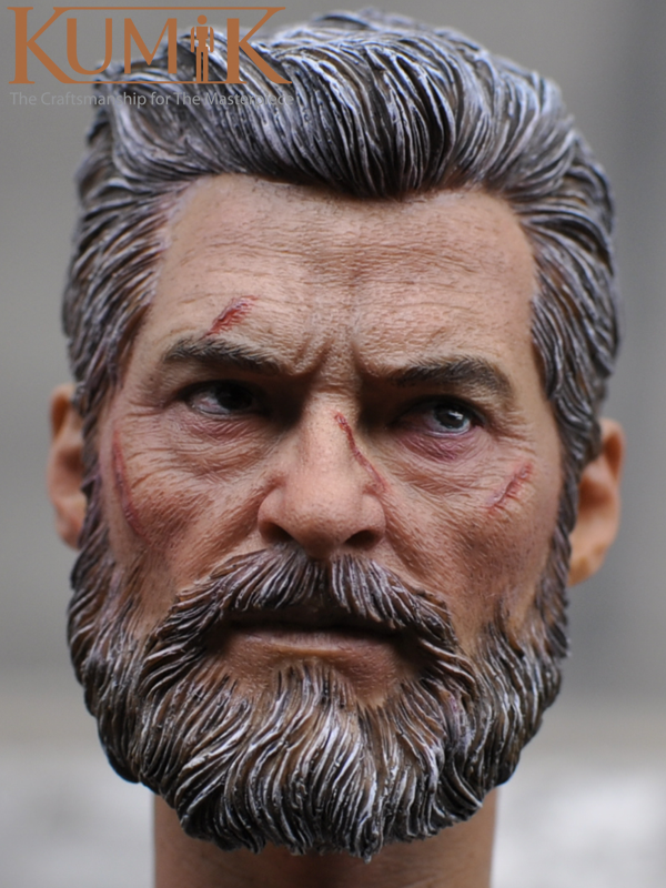 1/6 Scale Howlett Old Hugh Jackman Mr. Wolf  5.0 Head Sculpt KM16-54