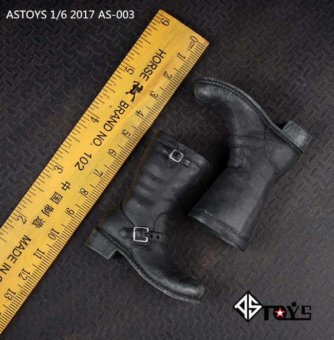 In-stock 1/6 Scale  ASTOYS AS003 For Terminator 3 T2 Arnold Boots Shoes