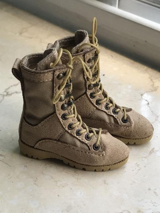 1/6 scale Desert Working Boots for 12'' action figure