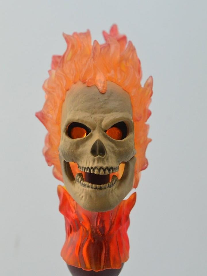 1/6 head sculpt for Ghost Rider with Light-up for 12'' action figure