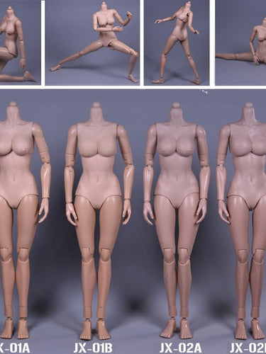 JX Toys 1/6 scale female body Perfect 2 Skin-tones for 12'' action figure