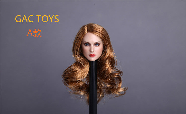 In-Stock 1/6 Female Head Sculpt GC005 (A/B/C) 3 Hairstyles GACTOYS
