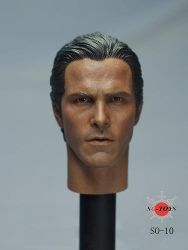 1/6 Head Sculpt for The Dark Knight starring by Christian Bale for 12'' figure