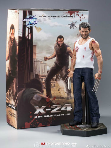 In-stock 1/6 Scale Soosootoys SST004 X24 Wolf Logan 12in Action Figure
