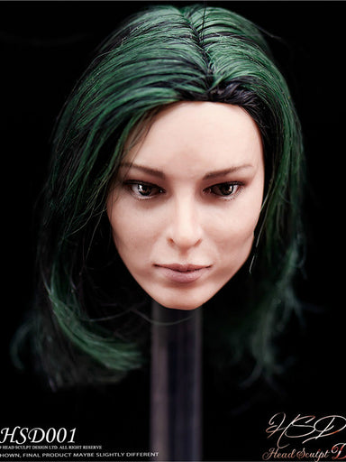 In-Stock 1/6 Scale HSD001 Female Polaris Head Sculpt H#Suntan