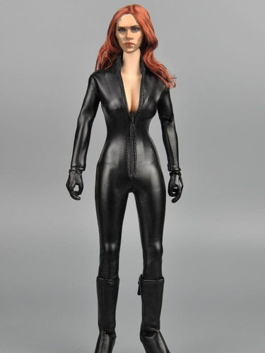 In-stock 1/6 Scale ZCTOYS ZY15-2 Female Pleather Jumpsuit For 12'' Action Figure