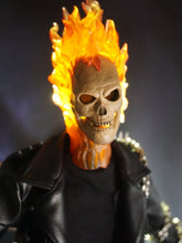 Custom Full set 1/6 Ghost Rider Costume with Lighting Head Sculpt body+suit+head
