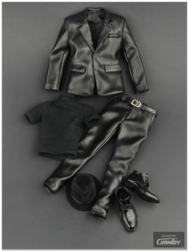 In-Stock 1/6 ZYTOYS ZY5007 Men Leather Jacket Suit Set